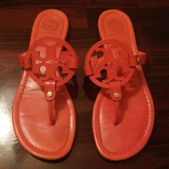187d84c9c217 Tory Burch Poppy Red Miller Sandals Size 9. M 5b5418775c4452b898ba1c75